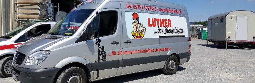 Rohrreinigungsfahrzeug der Fa. Luther in Rinteln